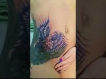 Перекрытие старой татуировки. Работа еще в процессе. Татуировки в Гомеле