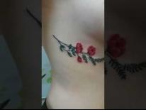 Татуировка на боку. Цветок. Татуировки в Гомеле